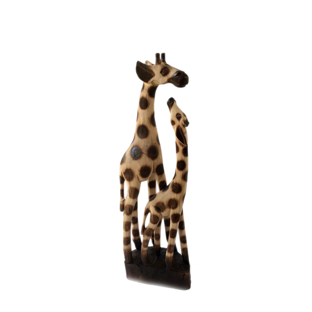 Mother Baby Wooden Giraffes Fair Trade Present Company