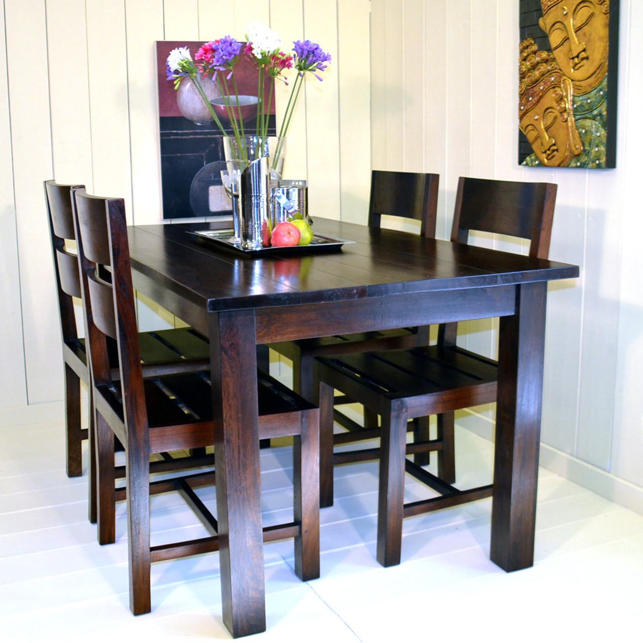 Kayu dining table chair set