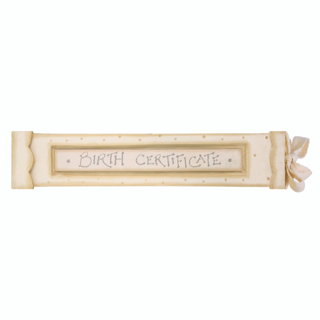 Wooden Birth Certificate Holder East Of India Present Company