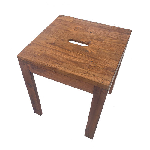 Old Indian Small Coffee Table With Carry Hole