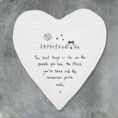 Porcelain Heart Coaster - Best Things are People You Love