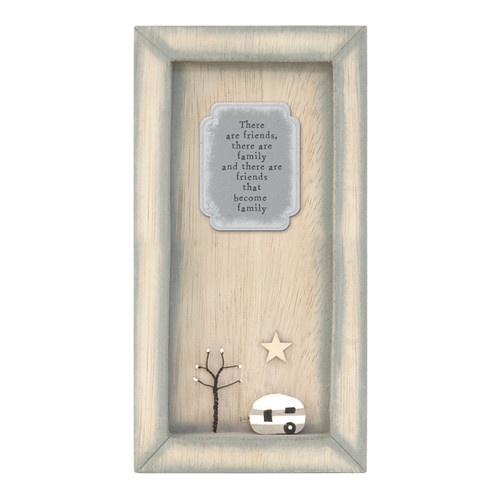 Long Wooden Ornament - Family Quote