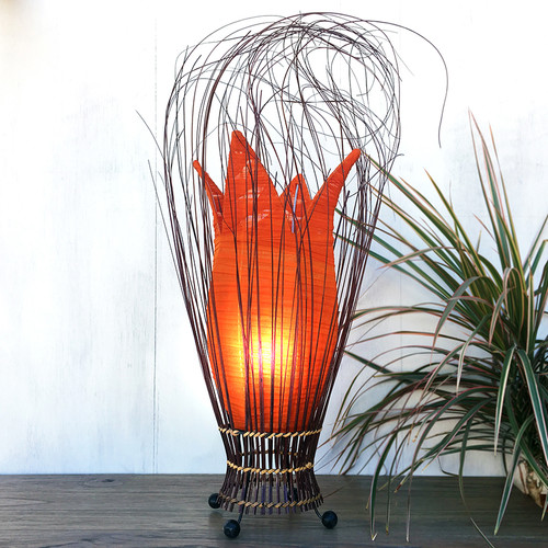 Small Tulip Lamp Orange