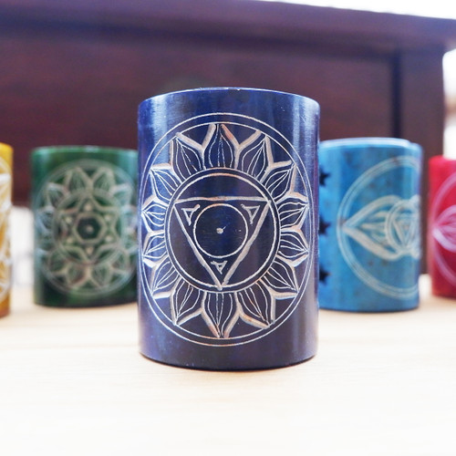 Blue Throat Chakra Soapstone Oil Burner