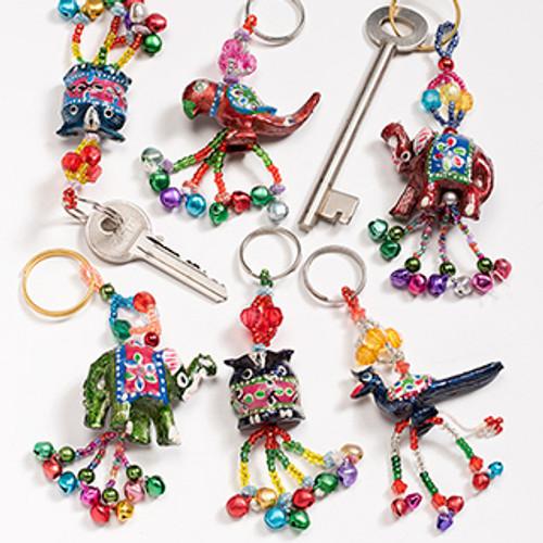 Beaded Keyring Assorted Animals