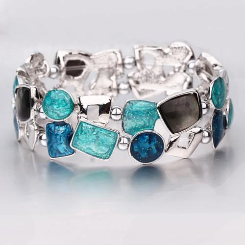 Teal Sparkle Magnetic Bracelet