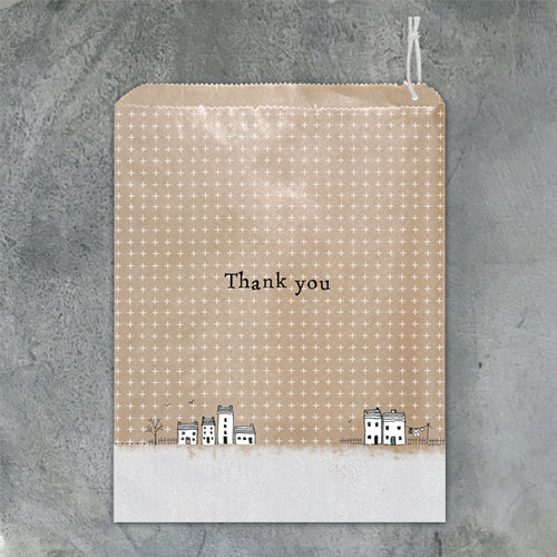 Paper Gift Bag - Thank you houses