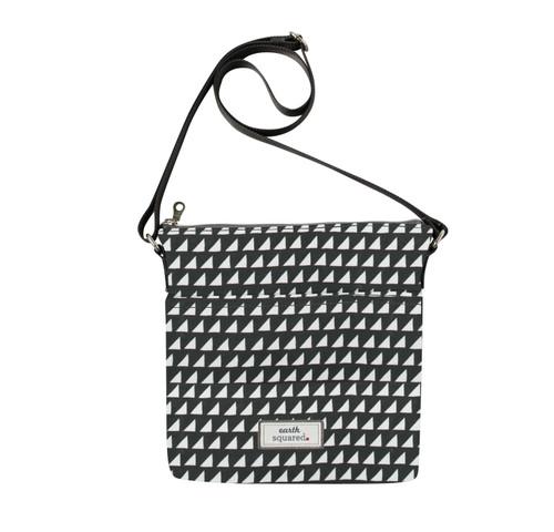 Grey Triangle Oil Cloth Messenger Bag