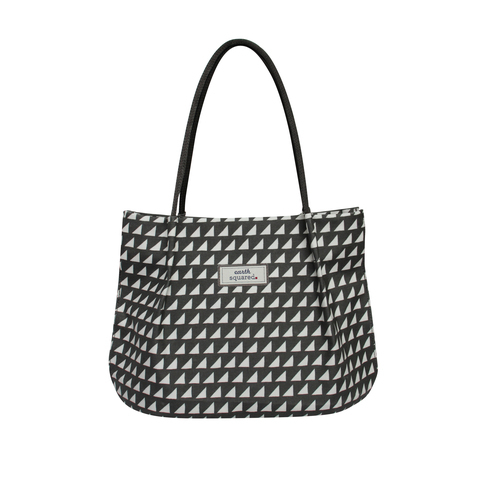 Grey Triangle Oil Cloth Freya Bag