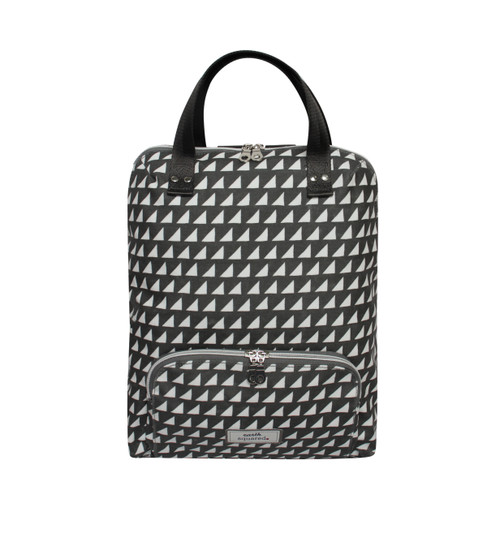 Grey Triangle Oil Cloth Backpack