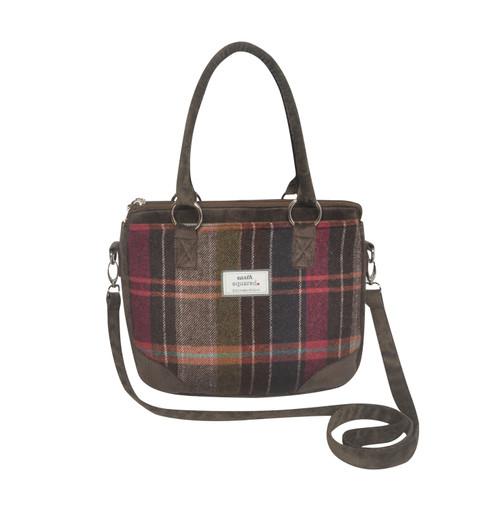 Pewter Tweed Saskia Bag