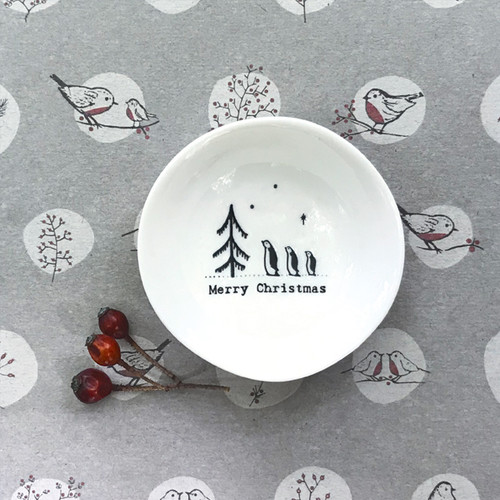 Small wobbly bowl-Merry Christmas