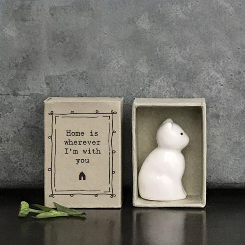 Matchbox Porcelain Cat