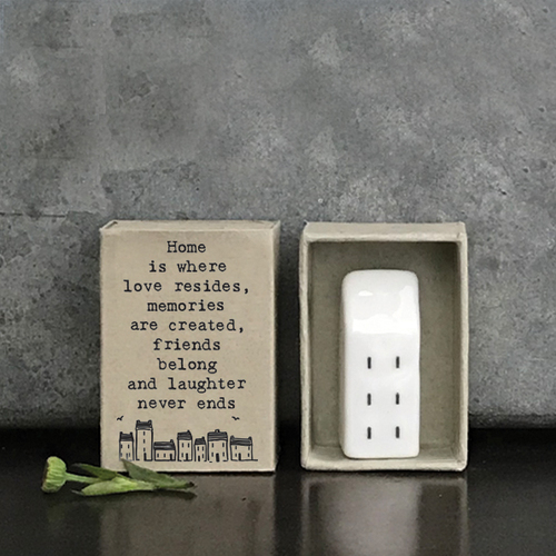 Matchbox Porcelain House Home is where love resides