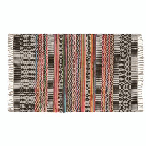 Handloomed Recycled Yarn Rug
