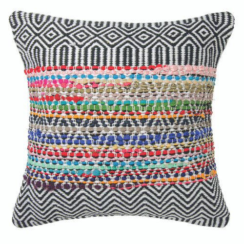 Handloomed Recycled Yarn Cushion