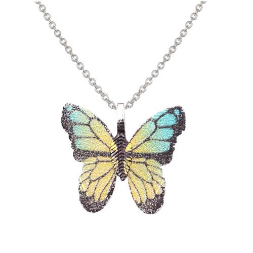 Golden Shimmer Butterfly Pendant