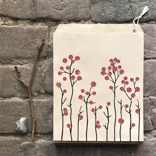 Paper red berries bag
