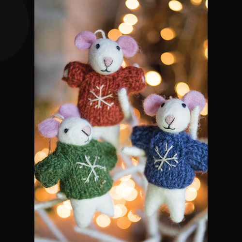 Felt Mouse Hanging Decoration