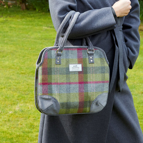 Stone Moss Tweed Grace Bag