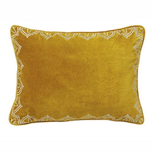 Mandir Velvet Cushion Gold