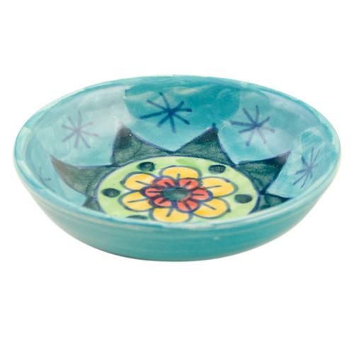 handpainted Ceramic Daisy Bowl