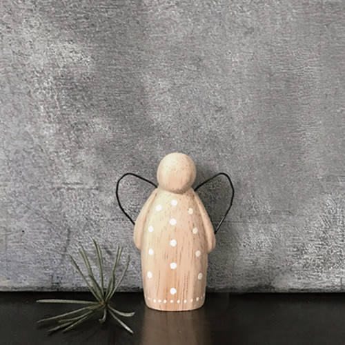 Small Wooden Dotty Angel