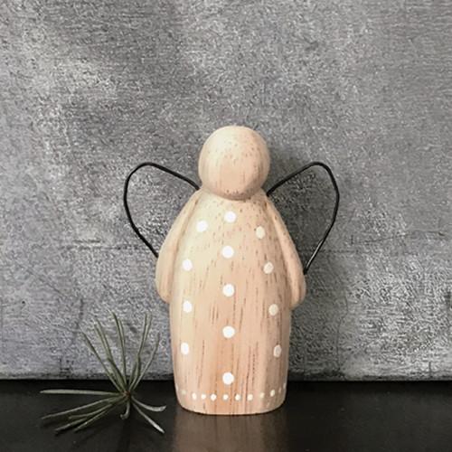 Medium Wooden Dotty Angel