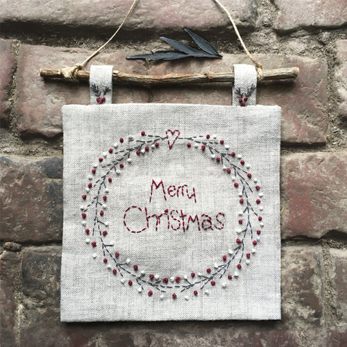 Christmas Wreath Embroiderd picture