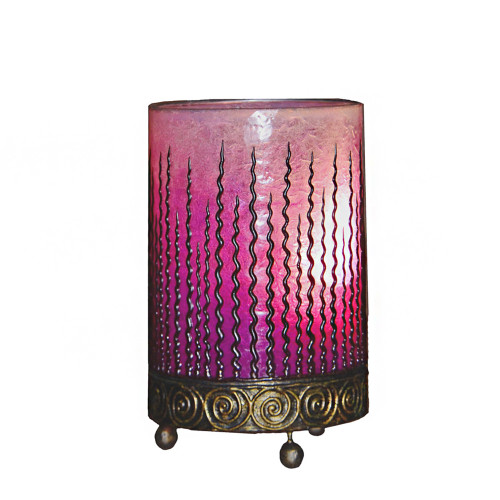 Pink Wave Design Table Lamp