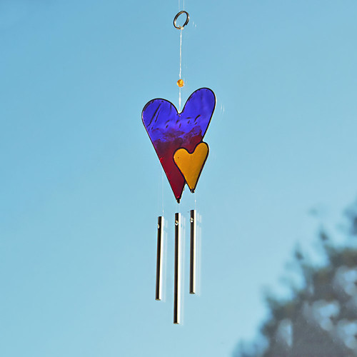Love Hearts Sun Catcher Windchime