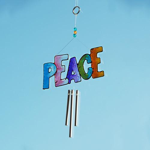 PEACE Sun Catcher Wind Chime