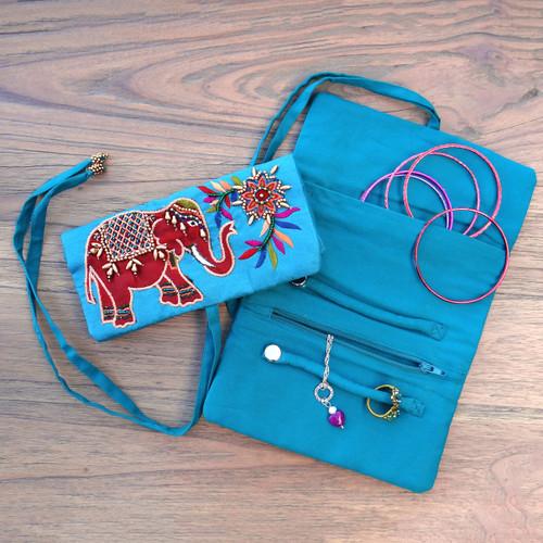 Elephant Jewellery Roll