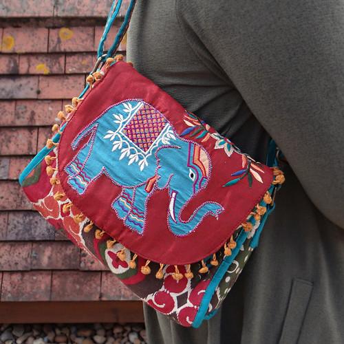 Elephant Shoulder Bag - Teal