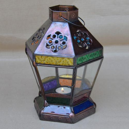 Fez Coloured Glass Lantern