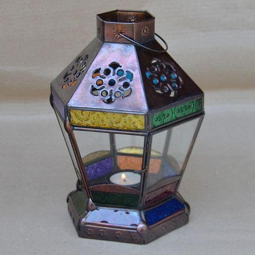 Fez Coloured Glass Lantern