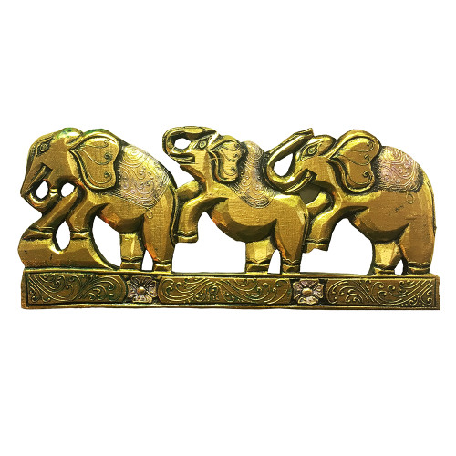 Elephant Parade Wooden Wall Plaque