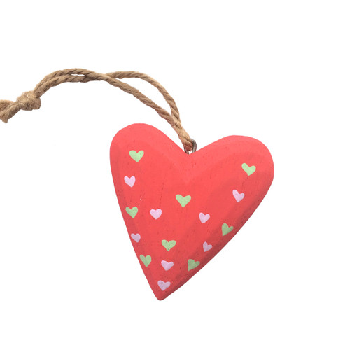 Small Red Wooden Heart