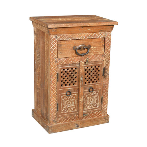 Old Indian Cupboard with 1 Drawer