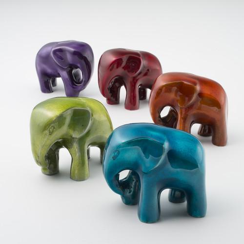 Large Recycled Aluminium Elephant