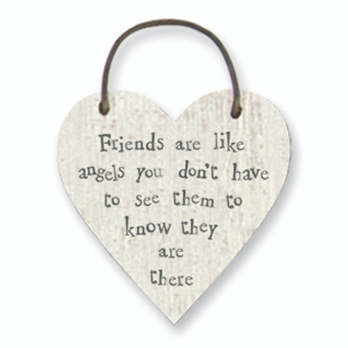 Little Wooden Heart Tag Friends Are Like Angels