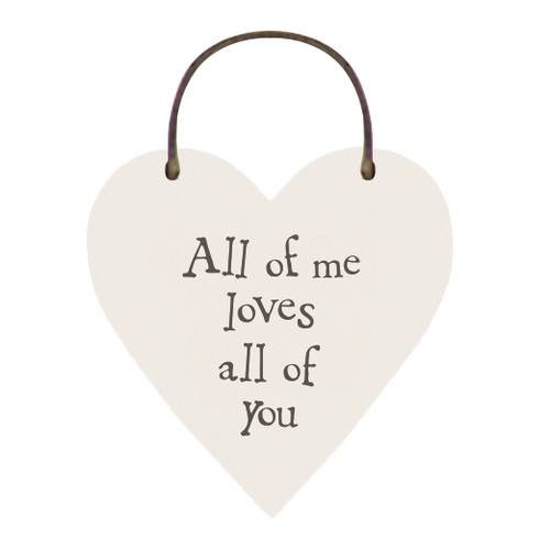 """Little Wooden Heart Tag """"All of me"""""""