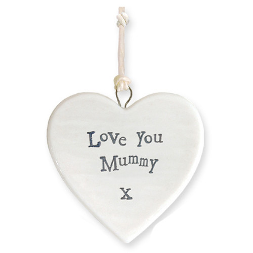 "Porcelain Heart ""Love You Mummy """