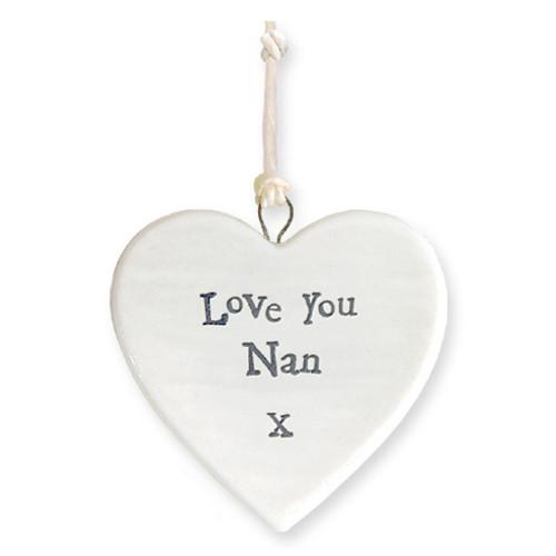 "Porcelain Heart ""Love You Nan """