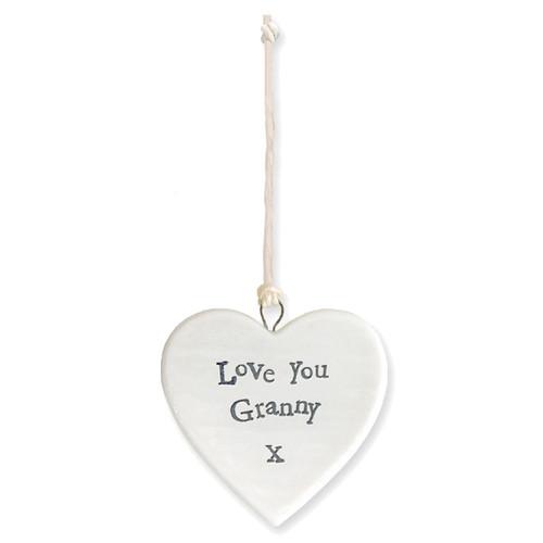 "Porcelain Heart ""Love You Granny"""