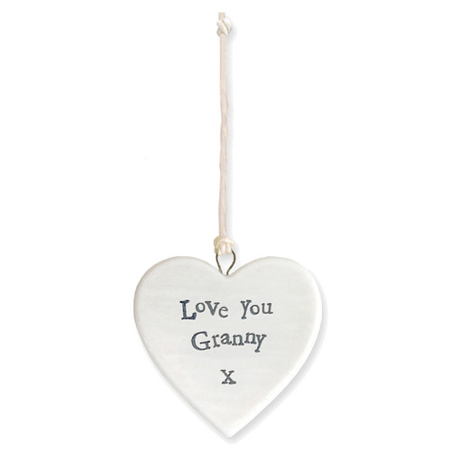 "Porcelain Heart ""Love You Granny"""