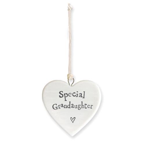 "Porcelain Heart ""Special Granddaughter """