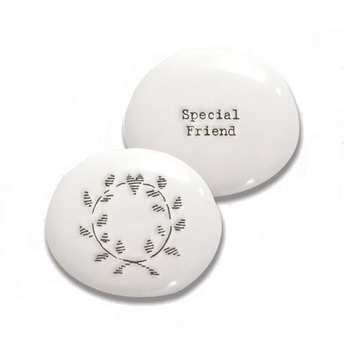 """Porcelain Pebble """"Special Friend"""""""