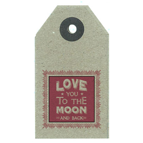 "Brown Craft Label ""Moon & Back"""