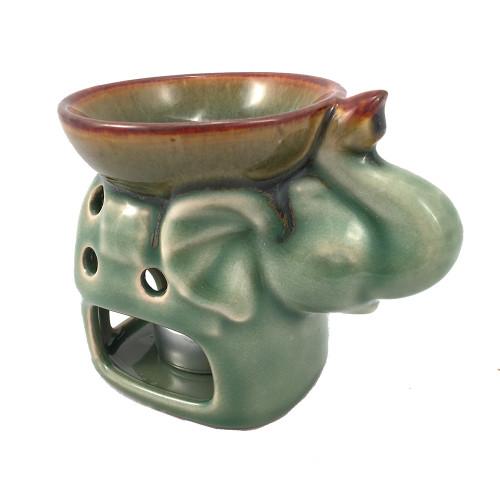 Elephant Oil Burner Sage Green